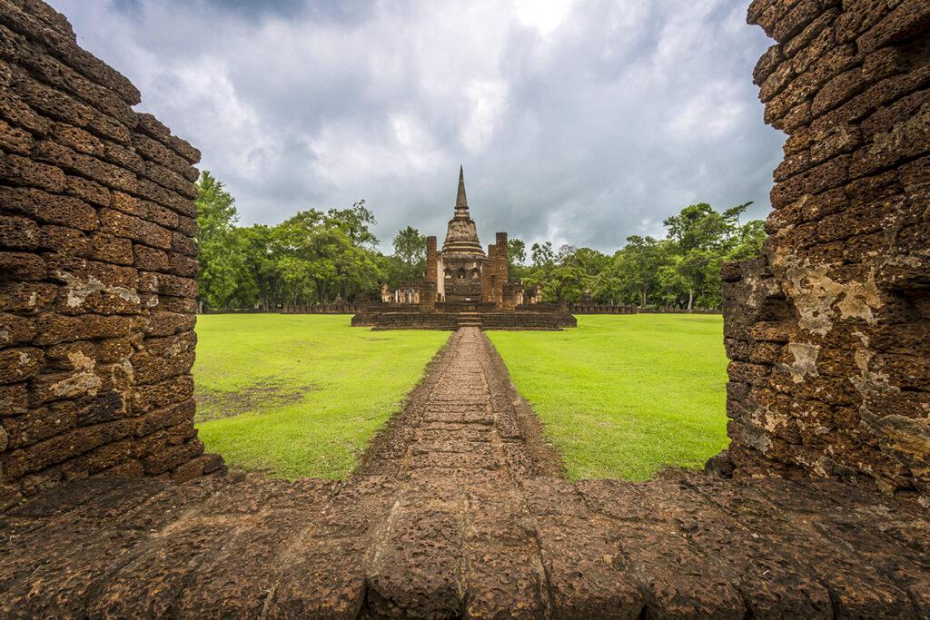 Chang Lom Temple in Si Satchanalai Historical Park, Sukhothai