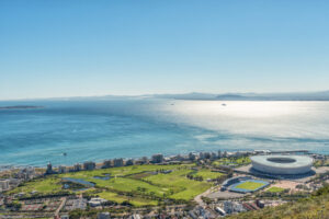 Aerial view of Green Point in Cape Town